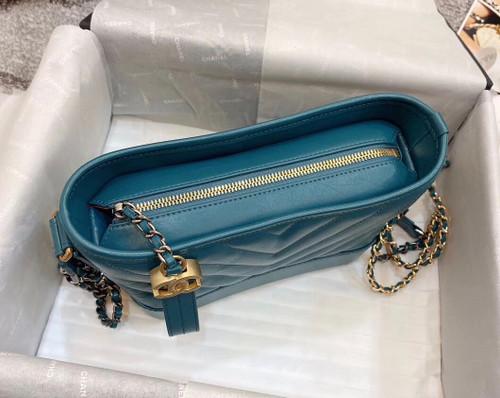 CHANEL'S Green GABRIELLE Small Hobo Bag