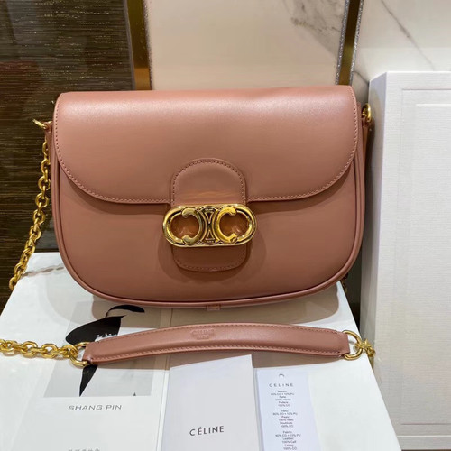 Celine MEDIUM CHAIN MAILLON TRIOMPHE BAG ANTIQUE ROSE
