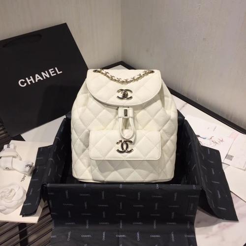 Chanel DUMA LEATHER BACKPACK WHITE
