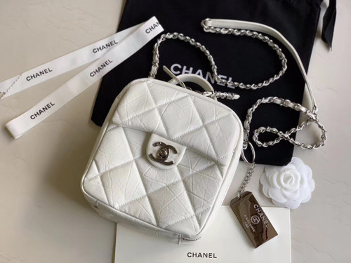 Chanel Camera case AS1323 White