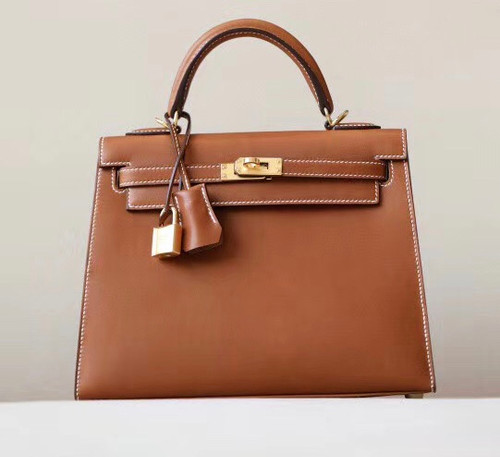 Hermès Barenia Gold  Kelly 25 Gold Hardware
