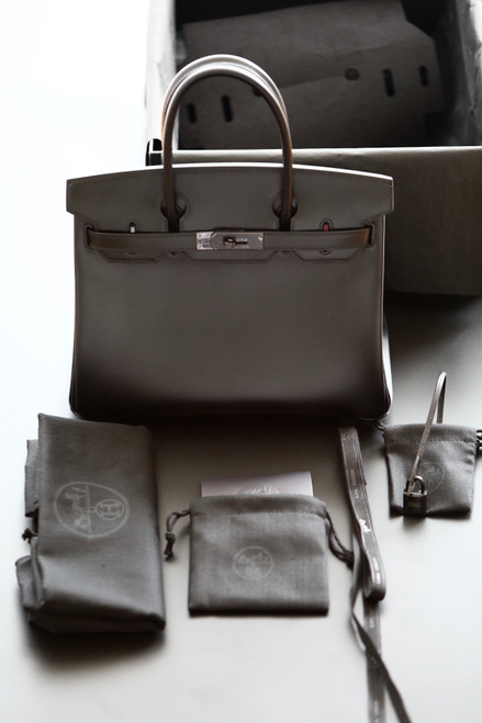 HERMÈS LIMITED EDITION BLACK CALF BOX LEATHER SO BLACK BIRKIN 30 WITH BLACK PVD HARDWARE