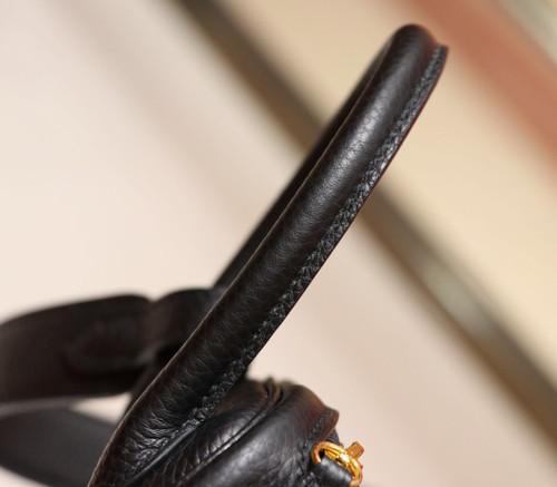 Hermes Mini Lindy 20cm Bag Black  Togo Leather Gold Hardware