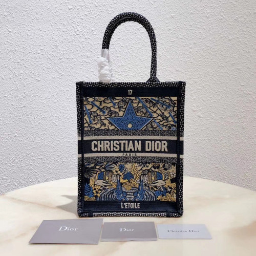 Christian Dior MULTICOLOR TAROT SOLEIL EMBROIDERED VERTICAL DIOR BOOK TOTE 17