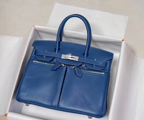 [Exclusive] Hermes Birkin Lakis 30 Bag with palladium hardware