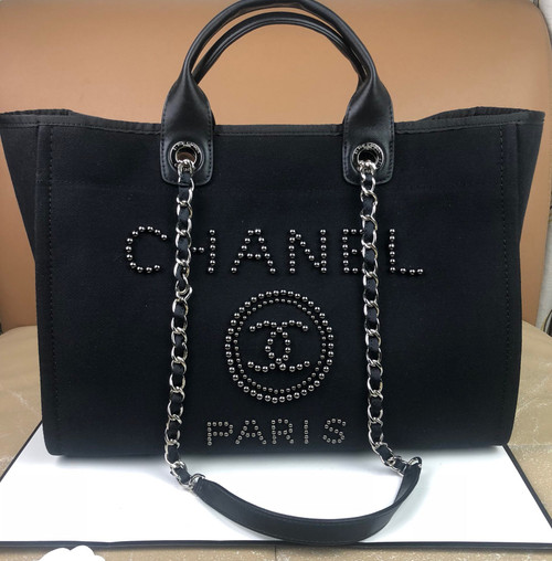 Chanel Shopping Bag With Imitation Pearls 2020