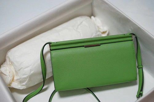 Hermes Clic-H 21 bag 3I Vert Criquet  Evercolor calfskin  with Palladium hardwares