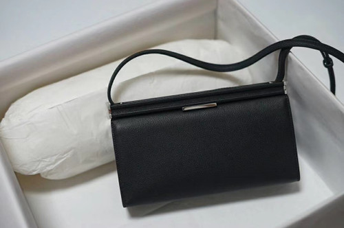Hermes Clic-H 21 bag Black Evercolor calfskin  with Palladium hardwares
