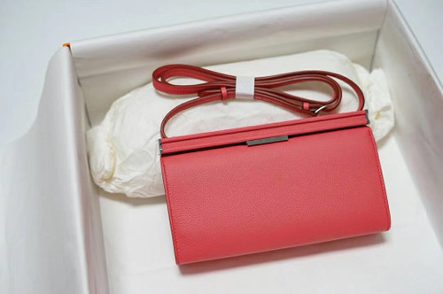 Hermes Clic-H 21 bag 8W Rose Azalee Evercolor calfskin  with Palladium hardwares