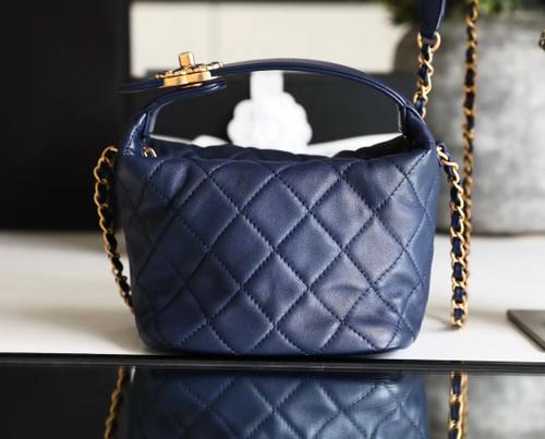 Chanel Blue Small Hobo Bag 2020