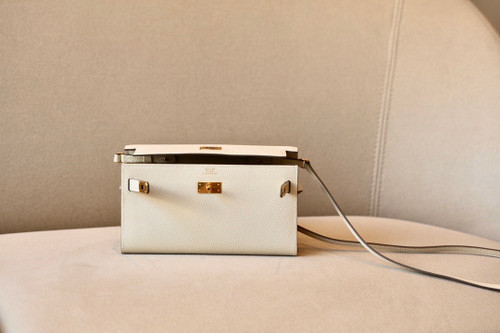 Hermes Kelly Wallet to Go Craie EPSOM GHW
