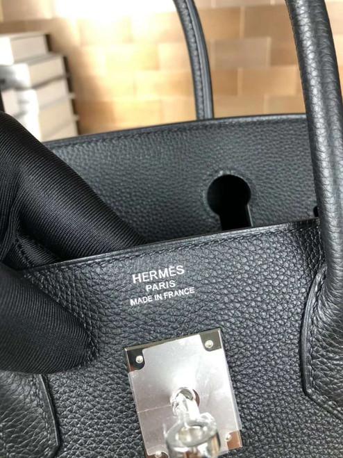 Hermes Graphite Birkin 25cm Epsom Palladium Hardware