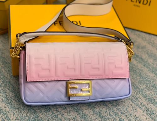 Fendi BAGUETTE Graduated color nappa leather bag