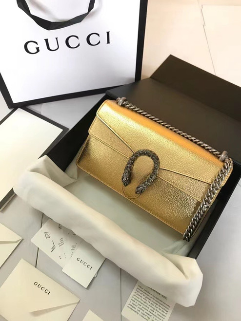 Gucci Gold Dionysus small shoulder bag