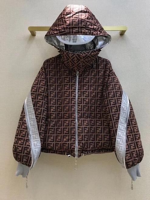 Fendi Doble-Sided JACKET Black nylon down jacket