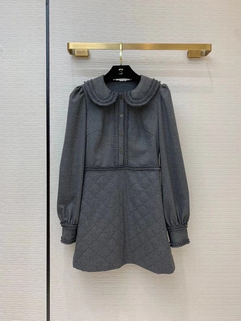 Fendi DRESS Gray flannel dress