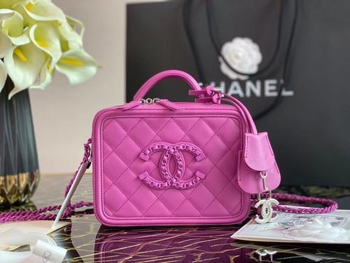 Chanel Small Fuchsia Vanity Case FW2020