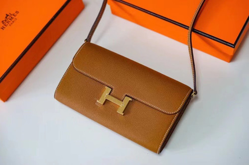 Hermes  Gold Constance Long To Go wallet Epsom Leather Gold Hardware