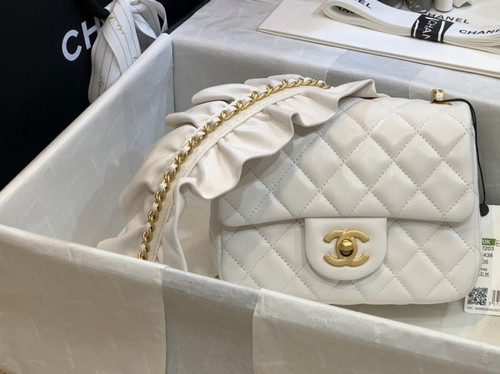 Chanel  Small Flap Bag White AS2203