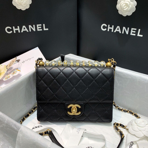 Chanel Flap Bag with Acrylic Beads
