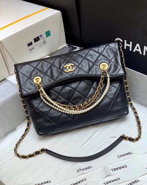 Chanel  Crystal Pearls Shopping Bag AW2020
