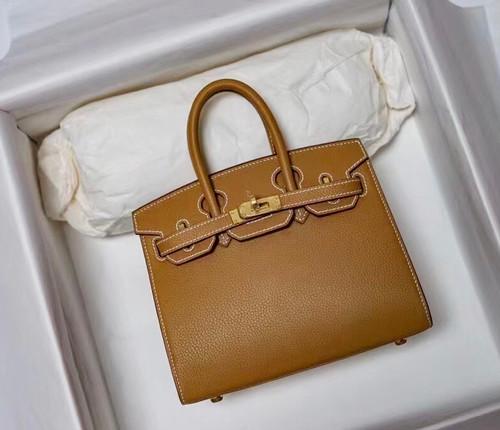 [Exclusive] Hermes Gold Birkin 20cm Epsom Gold Hardware