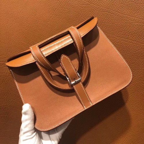 Hermes Gold Halzan mini bag