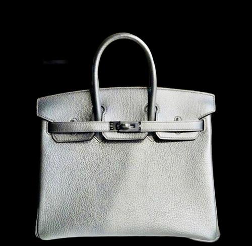 [Exclusive] Hermes Silver Birkin 25 cm Chevre Palladium Hardware