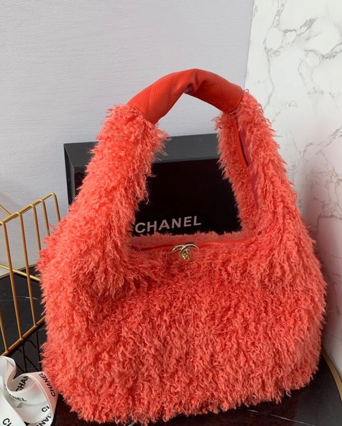 Chanel Large Hobo Bag Orange