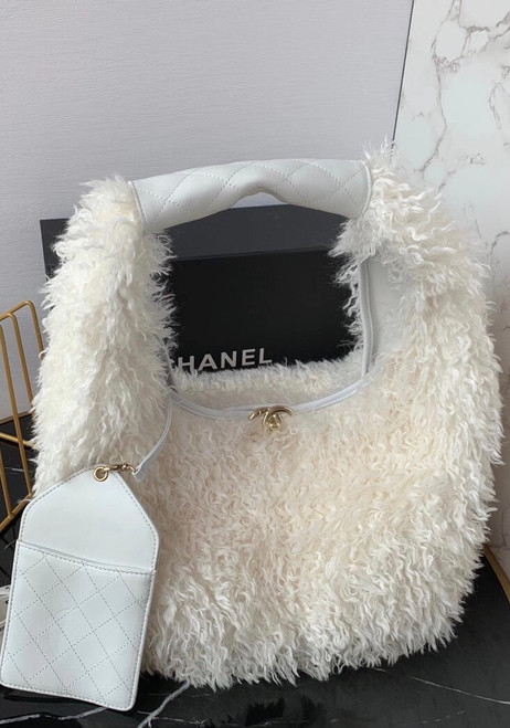 Chanel Large Hobo Bag White