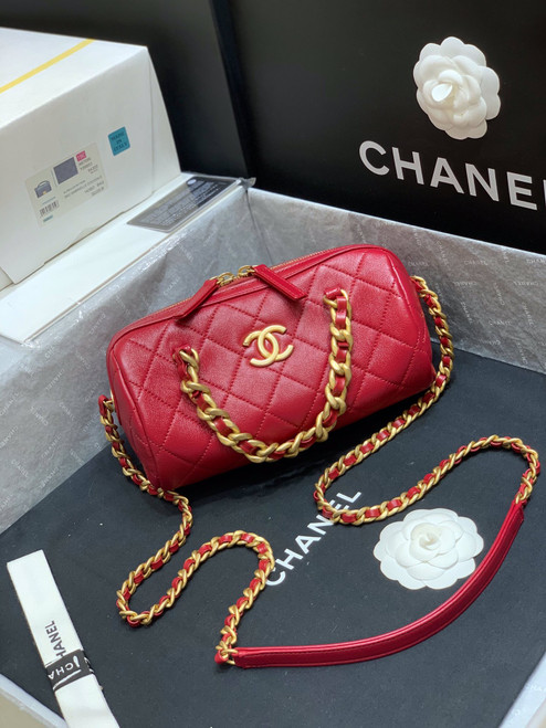 Chanel Bowling Bag 2020 Red