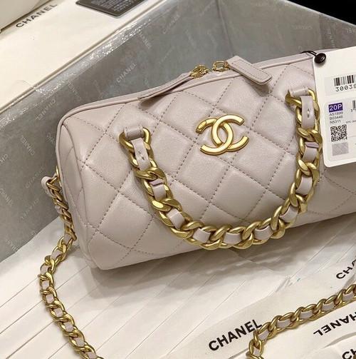 Chanel Bowling Bag 2020 Nude
