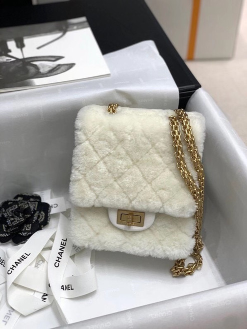 Chanel Mini 2.55 Handbag White