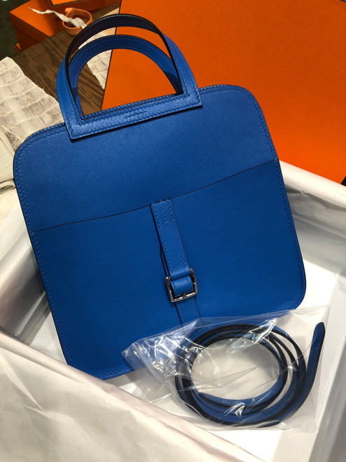 Hermes  Blue Hydra Halzan mini bag
