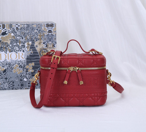 Christian Dior SMALL DIORTRAVEL VANITY CASE RED