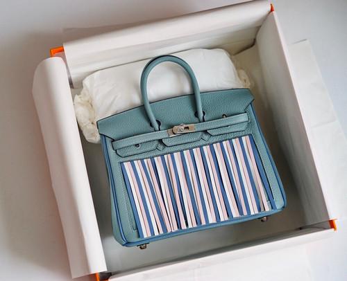 [Exclusive] Hermes Birkin 25 Bag HSS 7G Ciel Multi Colour Fringe Limited Edition
