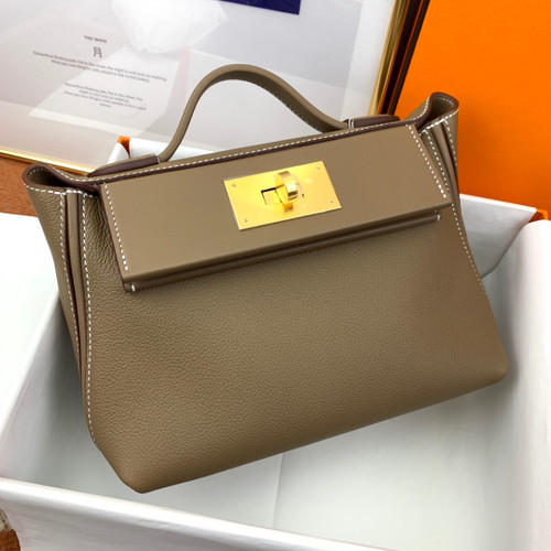 Hermès Mini 24/24 – 21 Bag Etoupe Evercolor/Swift leather