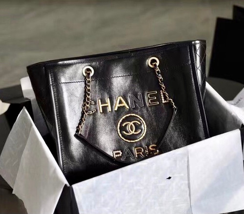 Chanel Shopping Bag with Crystal Pearls, Diamante, Enamel
