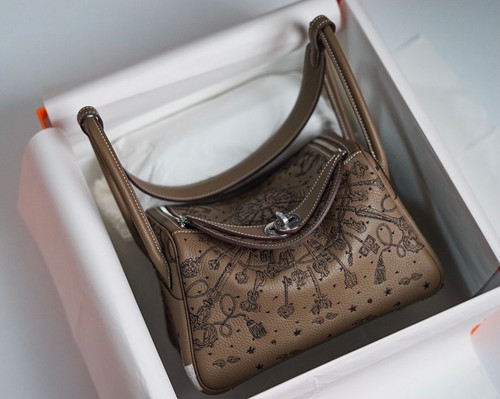 [Online Exclusive] Hermes Limited Edition Embroidered Lindy 26 Bag
