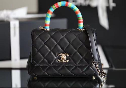 Chanel Mini Flap Bag with Rainbow Top Handle