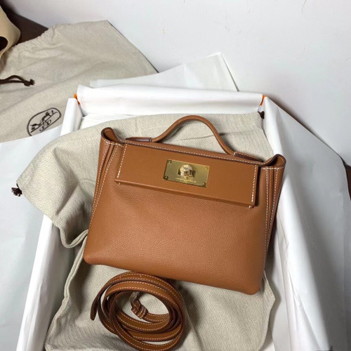 Hermès Mini 24/24 – 21 Bag Gold Evercolor/Swift leather