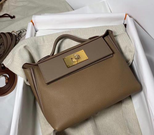 Hermès Mini 24/24 – 21 Bag D0 Beige de weimar  Evercolor/Swift leather