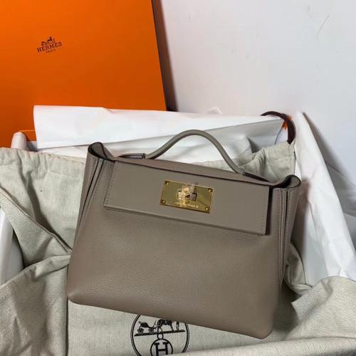 Hermès Mini 24/24 – 21 Bag M8 Gris Asphalte Evercolor/Swift leather