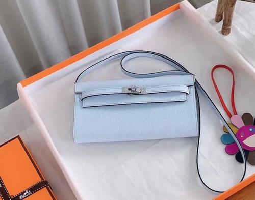 Hermes 08 Bleu Pale Constance Long To Go wallet Epsom Leather Palladium Hardware