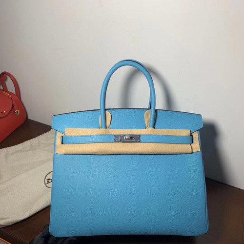 Hermes P3 Bleu Du Nor Birkin 35cm Epsom Leather Palladium Hardware