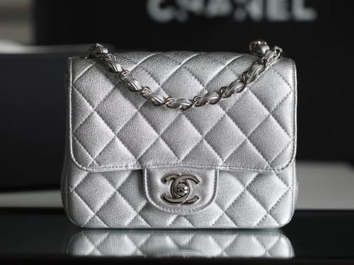 Chanel Metallic Lambskin mini flap bag