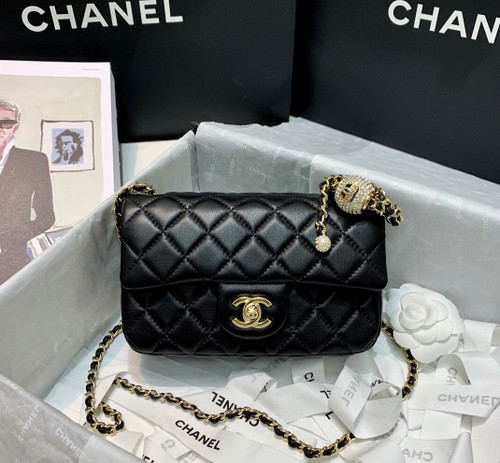 Chanel Small  Flap Bag with Diamond charm A/W 2020