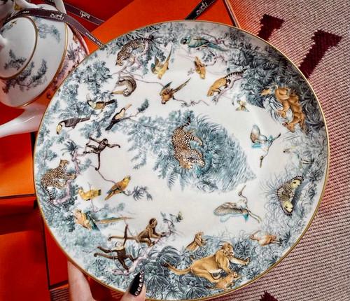Hermès Carnets D'Equateur Round Platter