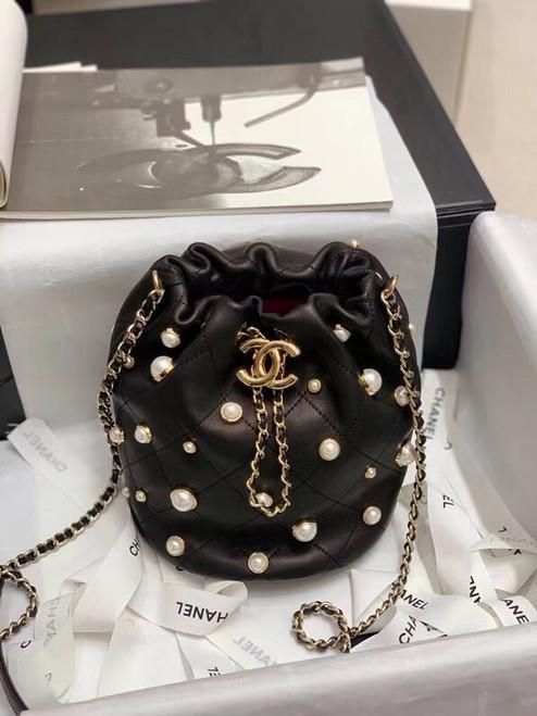 Chanel mini pearl drawstring bag 2021