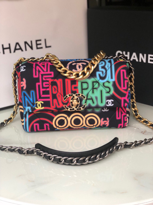 Chanel Limited Edition Graffiti  19 flap bag